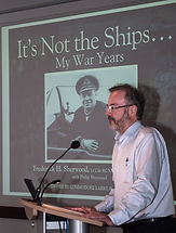 Philip, son of Fred Sherwood, talking about his father and his book. © Photos by Pharos 2014