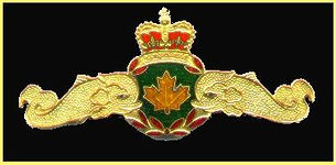 """The RCN's submarine badge. Personnel earn their """"Dolphins"""" when they pass basic s/m training"""