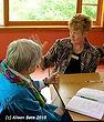 Julie H. Ferguson with a client. (c) Alison Bate 2011