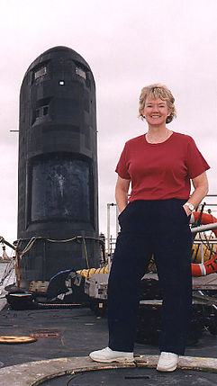 The author onboard HMS Unseen durning the Canadian acquisition of the Victoria class submarines. © BAE Systems