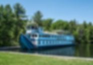 MV Kawartha Voyageur above Jones Falls Locks, Rideau Canal. © Photos by Pharos 2014