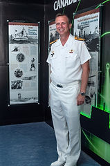 Cmdre Luc Cassivi opening the s/m exhibit at the naval museum. © Photos by Pharos 2014