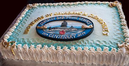 """THE"" cake at the centennial banquet. © Photos by Pharos 2014"