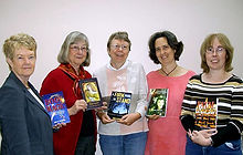 Five members of Port Moody's Writers' Group, 2008; writing and publishing