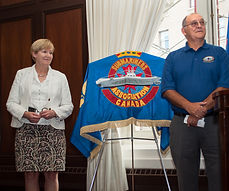 BC's Minister of Justice, Suzanne Anton and SAOC West president, Stu Cameron, © Photos by Pharos 201