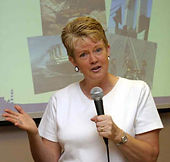 Julie H Ferguson speaking.  Courtesy: (c) Jerald Walliser Photography