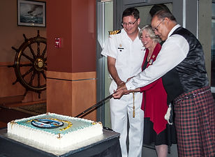 Cutting the Centenary cake at the banquet. © Photos by Pharos 2014