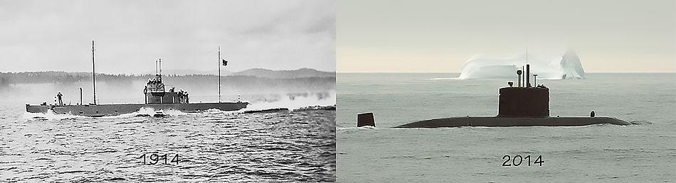 L: CC2 off Esquimalt; R: Corner Brook off Baffin