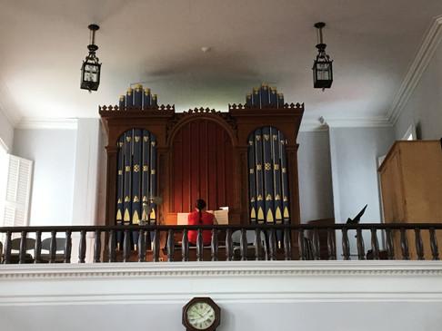 Rare and beautiful Johnson Tracker Organ