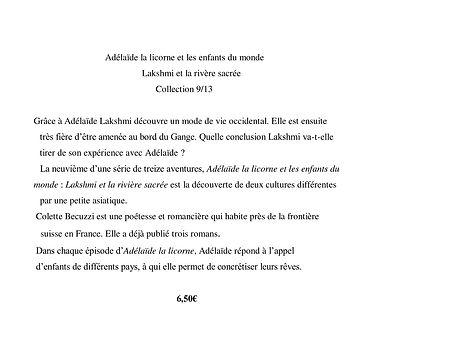 Adélaïde la licorne et les enfants du monde - Lakshmi et la rivière sacrée 9/13