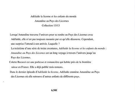 Adélaïde la licorne et les enfants du monde - Amandine au Pays des Licornes 13/13
