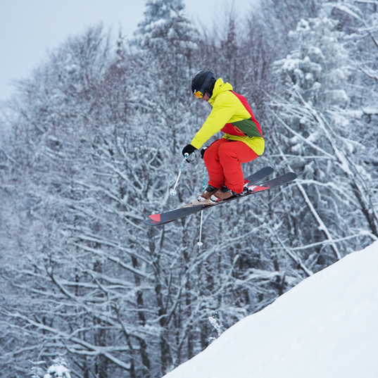 Professioneller Skifahrer