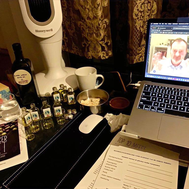 online olijfolie workshop/tasting 13 april 20.00 uur