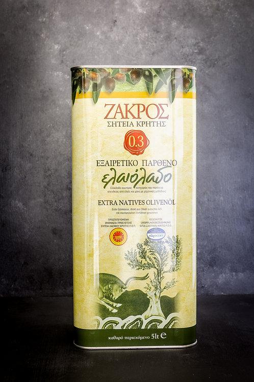 Zakros Extra Vierge Olijfolie 5 liter
