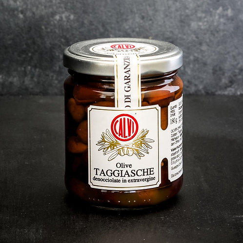Taggiasca olijven in extra vierge olijfolie 180 gr