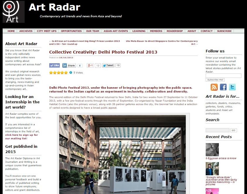 Art Radar, 2013