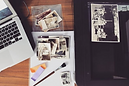 Analogue photographs being scanned for a genealogy and family history project. © Kriti Bajaj