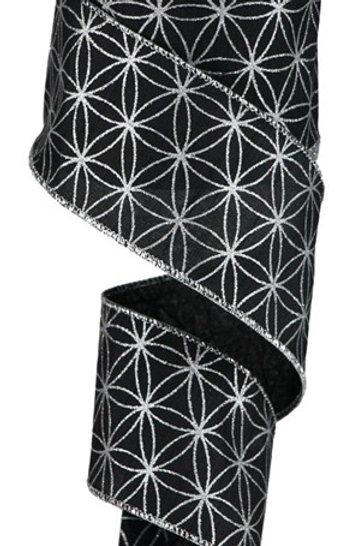 #40 Black/Silver Seamless Stars Ribbon