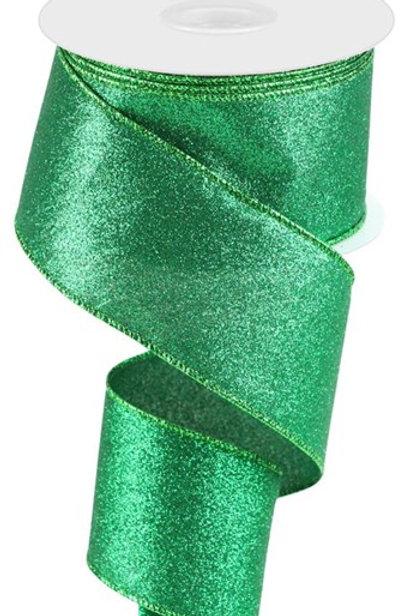 #40 Green Shimmer Ribbon