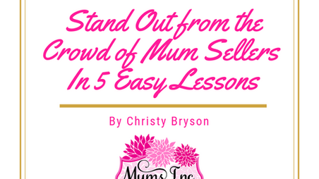 Stand Out From the Crowd of Marketplace Mum Sellers in Five Easy Lessons