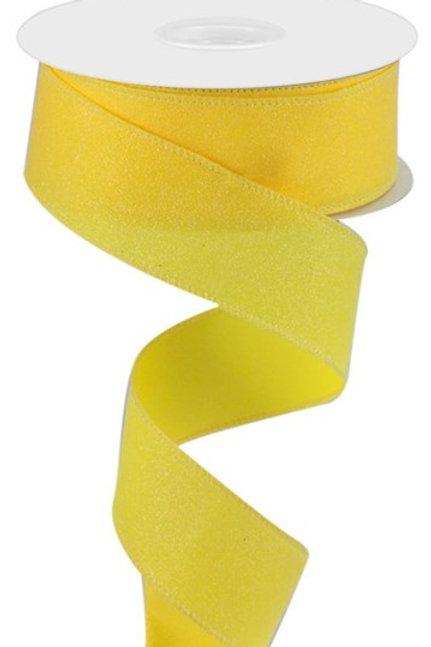 #9 Yellow Shimmer Ribbon