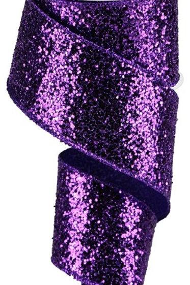 #40 Purple Chunky Glitter Ribbon