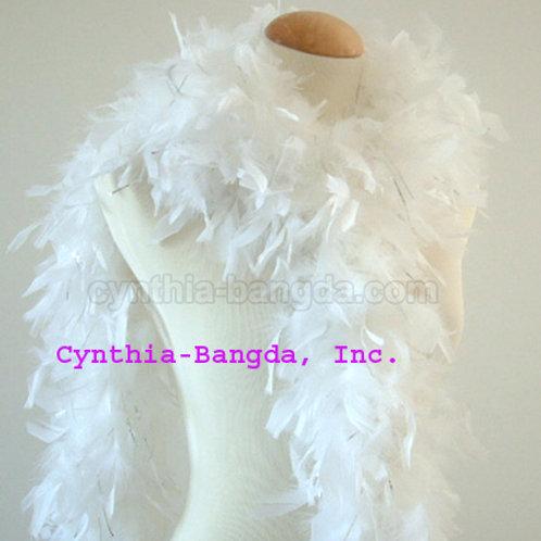 White w/Silver Tinsel Boa 65g