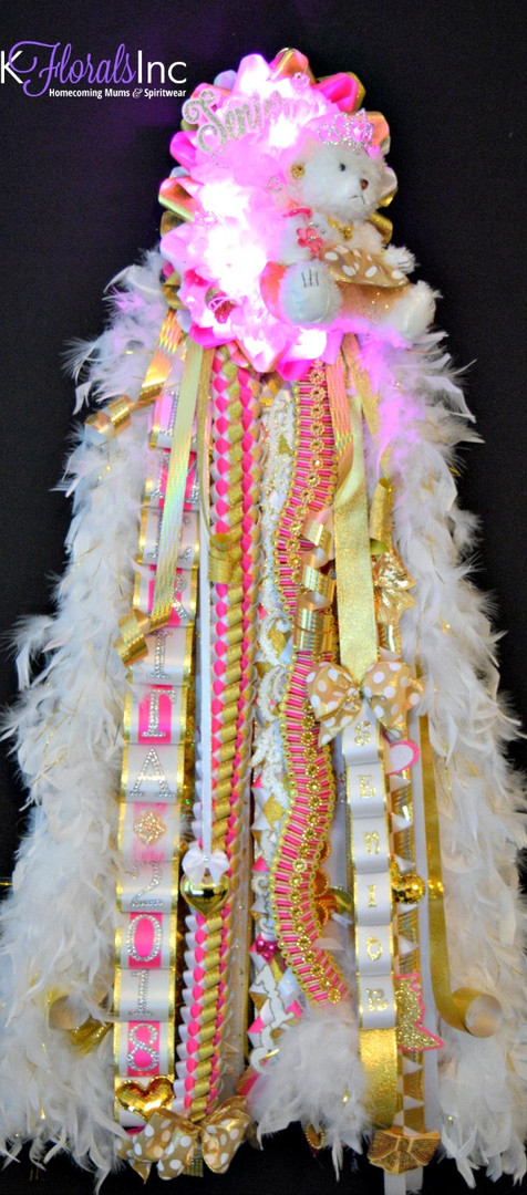 Double Elite Homecoming Mum w/Lights