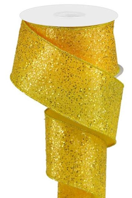 #40 Yellow Chunky Glitter Ribbon