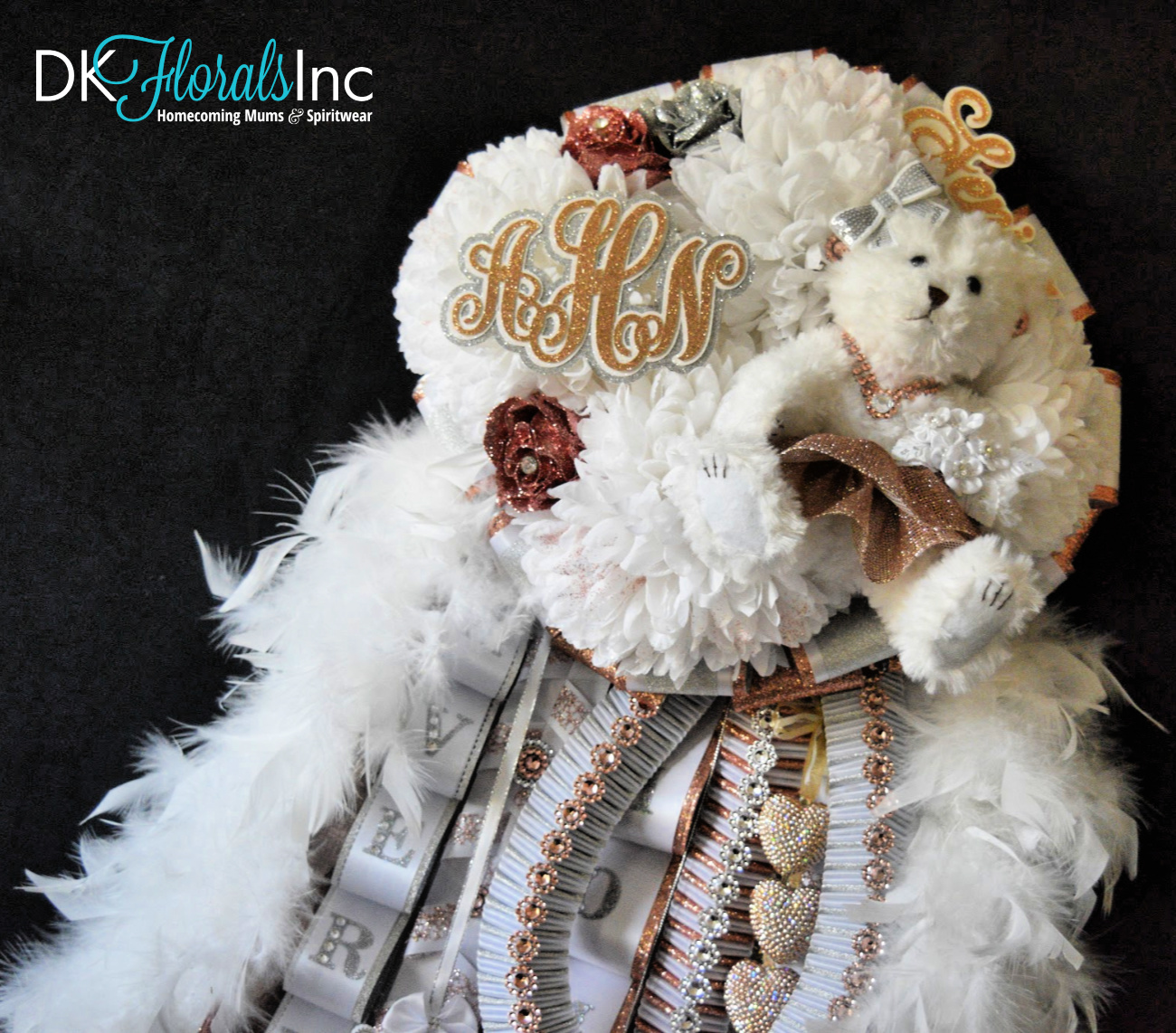 Rose Gold Quad Homecoming Mum