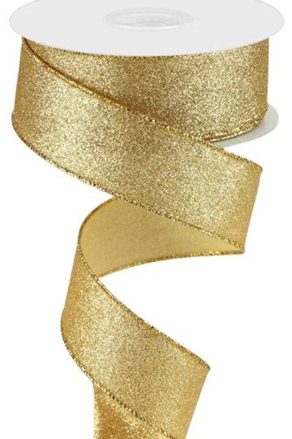 #9 Gold Shimmer Ribbon