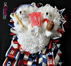 Denton Ryan Triple Homecoming Mum