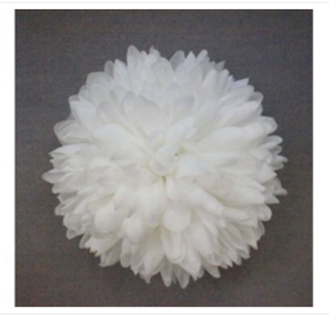 6.25 inch White Pointed Flower
