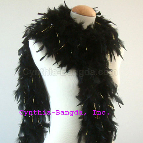 Black Boa w/Gold Tinsel 100g