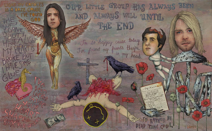NIRVANA - LIGHT MY CANDLES IN A DAZE CAUSE MY HEART SHAPED BOX IS BROKE
