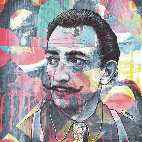 SALVADOR DALI - THE INVISIBLE MAN'S COSMIC CONTEMPLATION