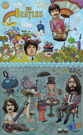THE BEATLES - LONELY HEARTS, RUBBER SOUL & MAGICAL YELLOW SUBMARINE TOUR