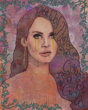 LANA DEL REY - DEADLY NIGHTSHADE CRYING TEARS OF GOLD