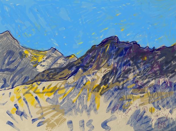 Painting 7 Paysage de montagne 1 kopie.p