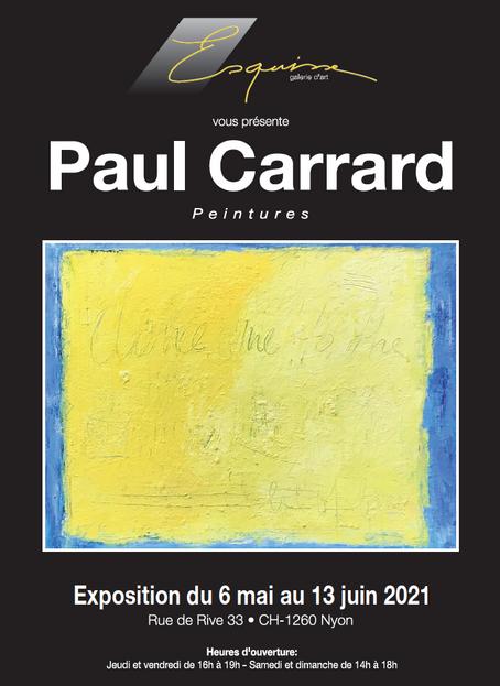 Paul Carrard • Peinture                                         2021, mai-juin