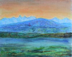 coucher de soleil au lac leman