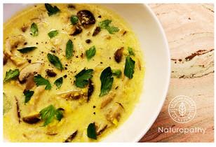 Vegan Mushroom Corn Cream Soup - immune booster!