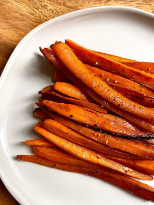 Roasted Carrots with Japanese soy sauce and cumin