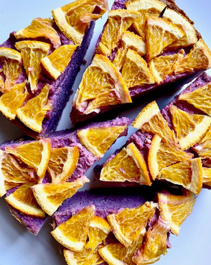 Gluten-free Purple sweet potato & Orange Cake