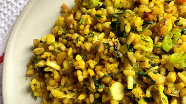 Immune-boosting recipe : Fried rice with Burdock root & Turmeric