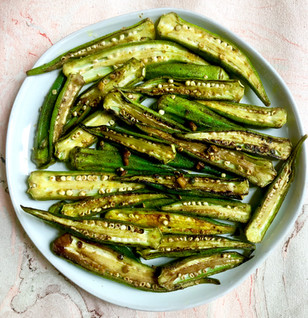 Japanese Style Curried Okra
