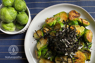 Japanese Style Pan-fried Brussel Sprouts