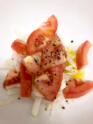 Daikon Radish & Tomato Marinated Salad
