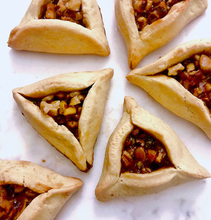 Hamantaschen With Caramelized Walnuts In Honey With Soy Sauce