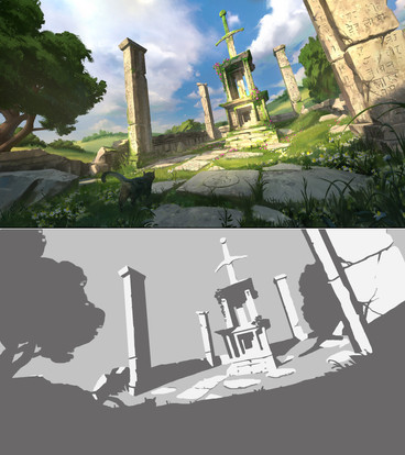 Study of pro work using only 3 values.
